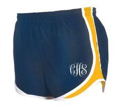 GSU womens monogram running shorts