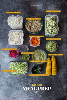 Basic Meal Prep For Daily Vegetarian Lunches + Recipes