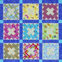 Create a keepsake for a child's birthday party by making a table cover quilt out of blocks that partygoers can sign. Fabrics are Mary Lou Weidman's Happiness Is collection by Benartex.