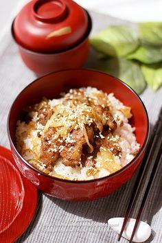Japanese Ginger Pork Rice Bowl (Shogayaki Donburi)
