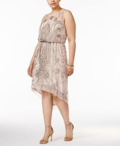 d28c90946242af Adrianna Papell Plus Size Embellished A-line Dress Women - Dresses - Macy s