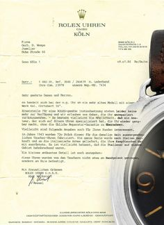 Rolex and vintage Panerai, an official statement from 1984