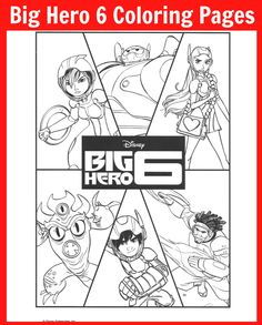 Collection of Big Hero 6 Coloring Pages - #BigHero6