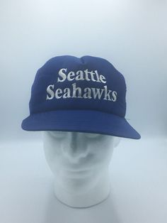 59391ea281e38 New Era Vintage Seattle Seahawks Snapback Mesh Foam Trucker Cap Made in the  USA  NewEra