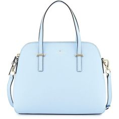 kate spade new york cedar street maise satchel bag ($315) ❤ liked on Polyvore featuring bags, handbags, sky blue, kate spade satchel, satchel handbags, satchel purse, leather satchel purse and leather handbags