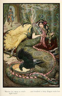 Frank C. Papé (1878 - 1972) ~ Marina and the Dragon