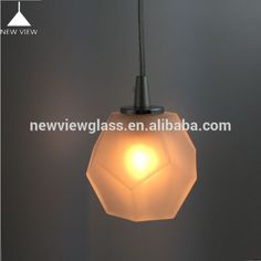 LED borosilicate diamong polygon frosted white blown glass pendant lamp vs glass lampshade cover globe ball, View Hand-made borosilicate frosted lighting glass lamp, New View Glass Product Details from Shenzhen New View Engineering Technology Co., Ltd. on Alibaba.com
