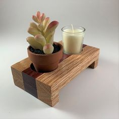 Made with red oak on the borders with purple heart wood in the middle. Purple Heart Wood, Housewarming Present, Wood Candle Holders, Red Oak, Woodworking Ideas, Woody, Lamp Light, Wood Crafts, Craft Projects