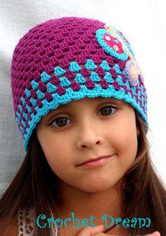 Gorro Mariposa Crochet Dream
