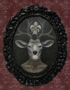 Dear Prudence by J Larkin Lowbrow Canvas Art Print – moodswingsonthenet