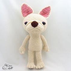 PDF Amigurumi / Crochet Pattern Sleepy Eye Dog by ennadesign