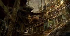 Walking down the dark alley by Derrick Song | Fantasy | 2D | CGSociety