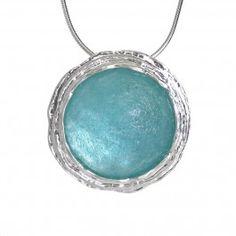 Sea Green Roman Glass Pendant
