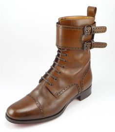 Christian Louboutin sz 44 Toerless Lace Up Boots Mens Shoes Brown fits US  11  ChristianLouboutin 5bac12a8c8b