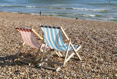 Deckchairs on Brighton's Seafront by UKbeaches, via Flickr