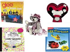 Girls Gift Bundle  Ages 612 5 Piece  Cardinal Games Glee Board Game  Disney Mickey  Minnie Heartshaped Coin Bank  TY Attic Treasure Darlene The Bear  Amelias ItchyTwitchy LoveyDovey S ** You can find more details by visiting the image link-affiliate link.