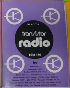 SAMS Transistor Radio Series MANUAL(TSM-140) Electronics Only Manual 1973 #Sams