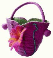 Felt Flower Bag Debbie Siniska