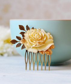 Hey, I found this really awesome Etsy listing at https://www.etsy.com/listing/153886465/ivory-rose-bridal-hair-comb-wedding-hair