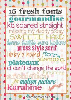 15 fresh free fonts