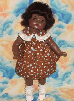 "~ 19"" Composition Effanbee ""Patsy Ann"" Doll With Mohair Wig ~ (1930's)"