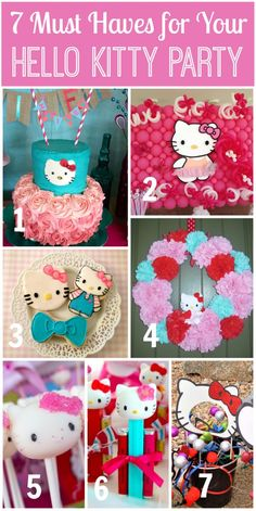 7 Must Haves for a Hello Kitty Party! | CatchMyParty.com           Visit www.fireblossomcandle.com  for more party ideas!