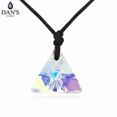 >> Click to Buy << DAN'S ELEMENT Brand 3 Colors new triangle collection pendant with rope chain necklace  for party girl #Affiliate