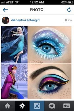 Frozen makeup!!