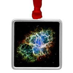 NASA  Crab Nebula metal christmas ornamanent