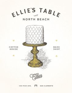 Ellie's Table poster - so cute! Packaging Design, Branding Design, Logo Design, Typography Inspiration, Graphic Design Inspiration, Layout Design, Design Art, Design Package, Lettering