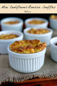 Mini Cauliflower-Boursin Souffles from NoblePig.com.