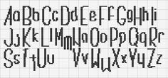 cross stitch alphabet free printable | There are more out there which I'm slowly trying out. Will add more ...