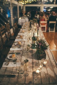 Emma & Simon… Yarramalong Valley, NSW Love Bears All Things, Bridal Table, Trestle Table, Vintage Industrial, Table Settings, Table Decorations, Weddings, Flowers, Table Top Decorations