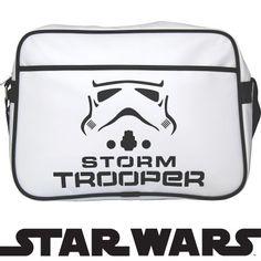 Star Wars Stormtrooper Helmet Messenger Bag Over Shoulder Bag Black White