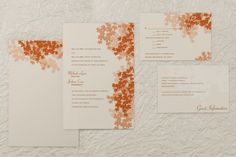 Twirling Maple Rectangle Invitations