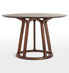 Love base.  Could  have table made I have contact in city.   Morrison Round Dining Table American Walnut D1290