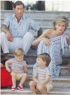 family holidays in Palma de Majorque, August 14, 1986 with the Spanish royal family.