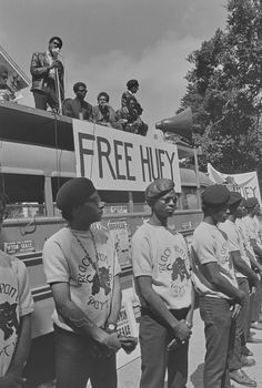 Bobby Seale speaking on Free Huey Rally Bus, Free Huey Rally, De Fremery Park, July 14, 1968 — in Oakland, California.  Photo credit: Pirkle Jones / University of California, Santa Cruz