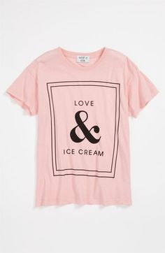 I wish this came in my size!!!  Wildfox Love & Ice Cream Tee (Big Girls) | Nordstrom