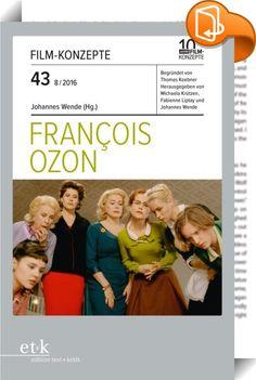 FILM-KONZEPTE 43 - Francois Ozon    ::  In einer großen Tradition französischer Autorenfilmer steht François Ozon heute als einer der wenigen, deren Namen auch einem größeren Kinopublikum hierzulande noch bekannt ist. Dies ist vor allem deshalb erstaunlich, weil Ozon in den letzten 20 Jahren sehr unterschiedliche Filme gemacht hat, sein Name also kaum zur »Marke« taugt, die einem Publikum im Voraus verspricht, was zu erwarten ist. »Ein Film von François Ozon«, das bezeichnet ein Frühwe...