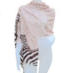 """Thai Zebra Pashmina Shawl Wrap and Soft Scarf Scarves, Size 22""""x75"""" by BangkokMarket. $8.99. Thai Zebra Pashmina Shawl Wrap and Soft Scarf Scarves, Size 22""""x75"""". Easy math your cloth. Really great gift for special one and nice for any season."""