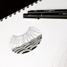 Minimal lines #graphicbyd #minimalist #minimalisttattoo #sunrise #illustrations #blackink #iblackwork #sketch #drawing #ink #tattoodesign #vsco #linework #lines