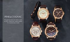 Pink - for men Summer Collection, Pink And Gold, Fossil, Favorite Color, Pairs, Leather, Men, Accessories, Jewelry