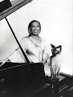 Roberta Flack and Siamese cat