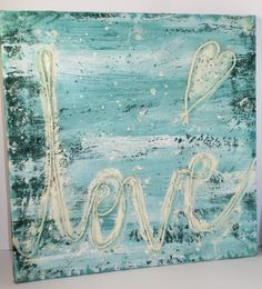 FREE shipping Love Wall Art Handpainted Picture by NIKscrapbooking