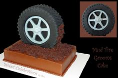 How to Make a Tire Cake | Standing Tire Wedding Cake