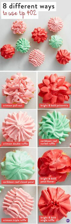 Cupcake decorating tips: 8 unique ways to use piping Wilton tip 402!