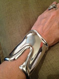 Tiffany & Co. 1975 Elsa Peretti Long Bone Cuff  Bracelet Sterling Silver Vintage High Fashion Jewelry on Etsy, $2,195.31