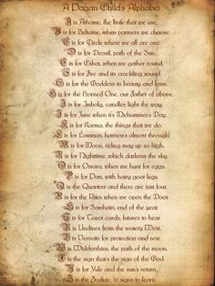 A Pagan Child's Alphabet bewitching