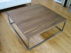 Coffe Table. Steel and walnut.